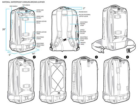 create pattern sketch 3 man s backpack design sketch on behance