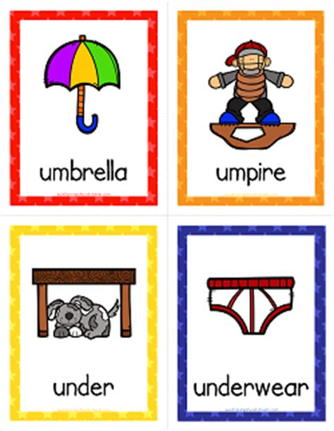 color that starts with u things that start with u cards alphabet printables a