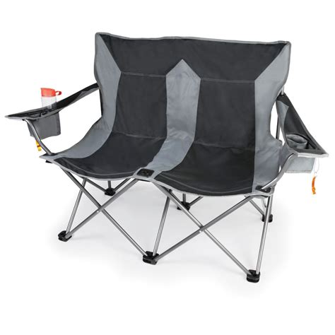 The Outdoor Folding Loveseat Hammacher Schlemmer