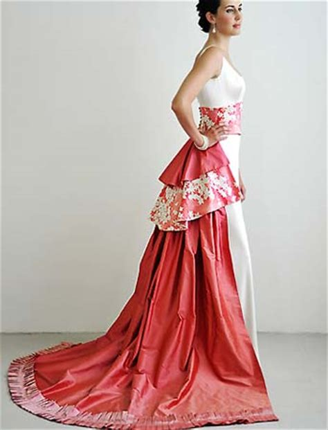 Elegant Asian Inspired Cherry modern japanese bridal gowns for your cherry blossom