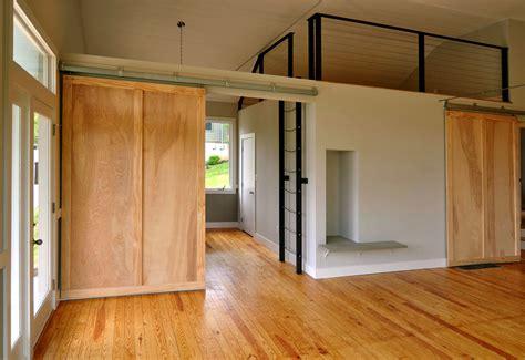 Barn Doors For Interiors Mesmerizing Unfinished Wooden Interior Sliding Barn Doors For Homes Added Wood Floor Oak Pattern