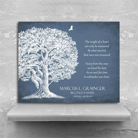 Memorial Plaque In Loving Memory Poem Oak Tree Sympathy