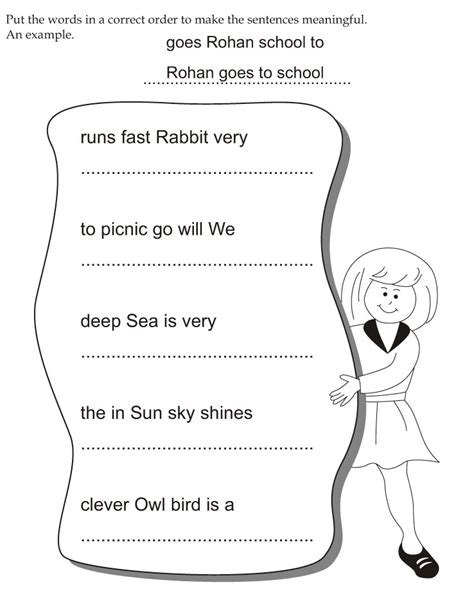 Best Kindergarten Resume by Put The Words In A Correct Order To Make The Sentences