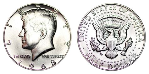 composition of dollar coin 1968 d kennedy half dollars 40 silver composition value