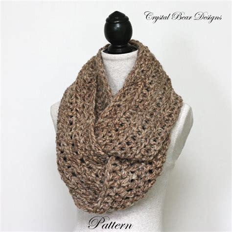 beginners crochet infinity scarf crochet pattern simple chunky infinity scarf beginner pdf