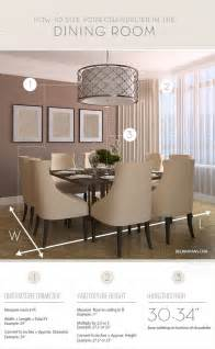 Dining Room Chandelier Size Chandelier Size For Dining Room Home Design