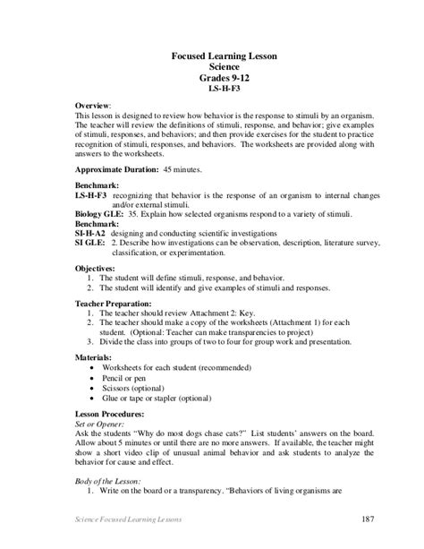 Stimulus And Response Worksheet Answers by Stimulus And Response Worksheet 2 With Answers