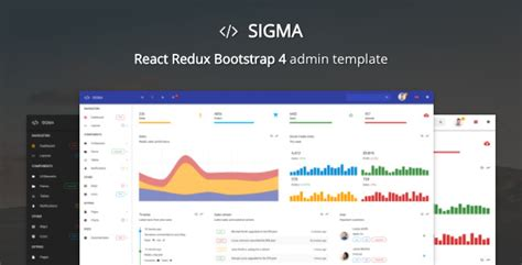 Sigma React Bootstrap 4 Admin Template By Batchthemes Themeforest React Website Templates