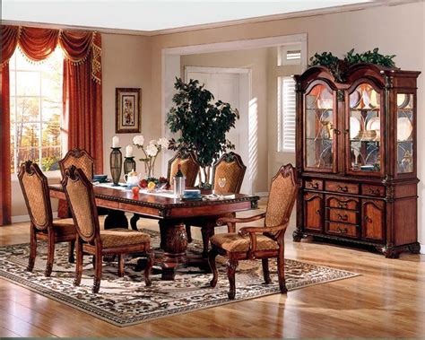 traditional dining room sets pedestal dining room table elegant dark wood formal