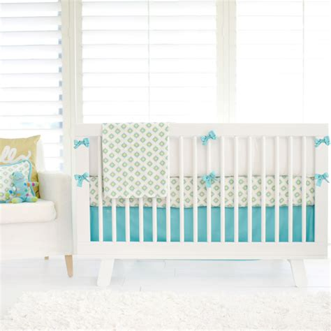 aztec in aqua and gold crib bedding set by new arrivals inc