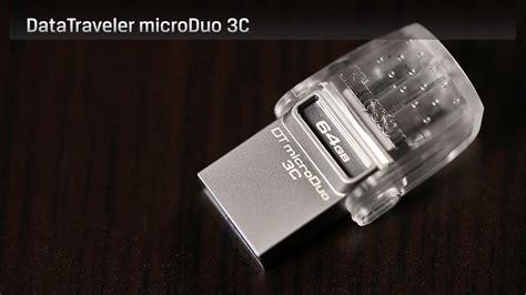 Fd Kingston Datatraveler Microduo 3c Type C Usb 3 1 Dtduo3c 32gb flash drives datatraveler microduo 3c type c usb drive kingston technology