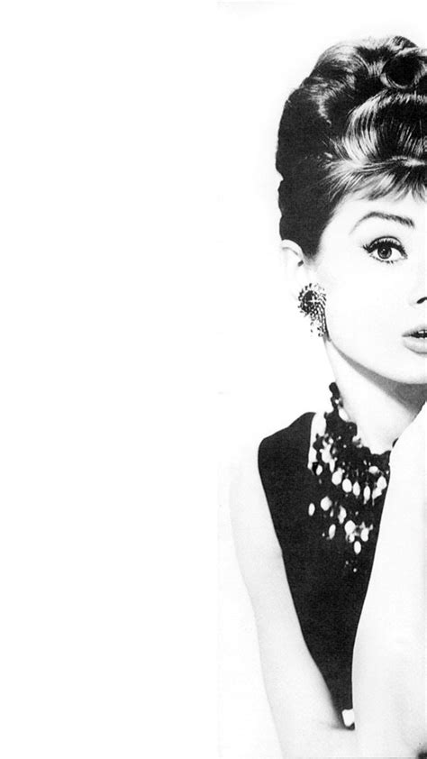 wallpaper black and white fashion free audrey hepburn iphone 6 plus wallpaper iphone