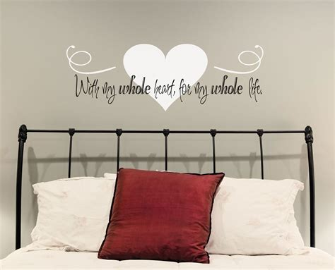 word wall stickers for bedrooms love wall decal with my whole heart for my whole life i love
