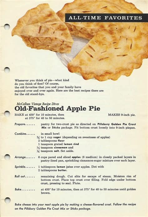 fashioned apple pie 1961 the vintage 1961 cookbook