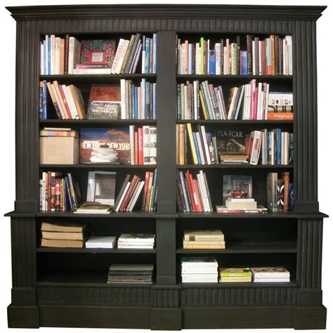 Large Black Bookshelf by 19th Century Style Large Bookcase For Sale At 1stdibs