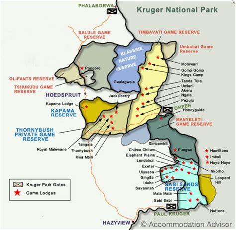 map of greater greater kruger map