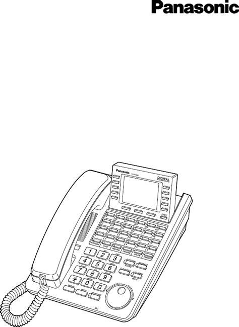 Telephone Kx T7433 panasonic telephone kx t7433 user guide manualsonline