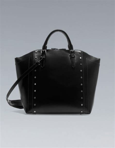 Marc Jacob Shopper 833 zara studded tote shopper in black lyst