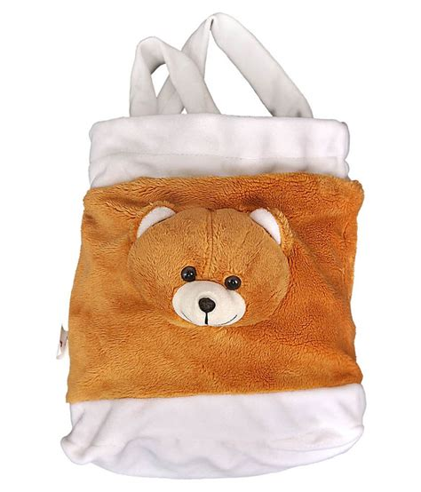 Bag With Teddy Funnyland Fabric Teddy Bag Brown White Available At