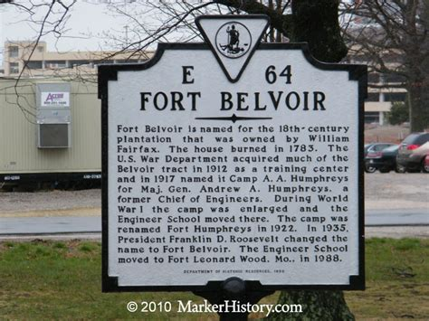 Fort Belvoir Transportation Office by Fort Belvoir E 64 Marker History