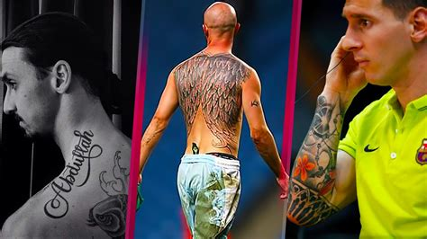 soccer players tattoos the best and awesome footballer tattoos