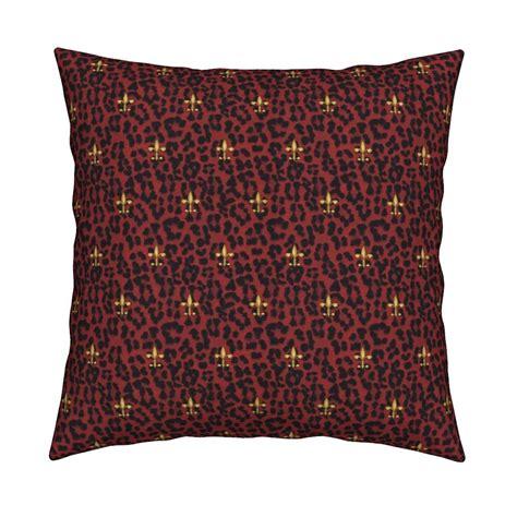 169 2011 leopard print fabric glimmericks spoonflower 169 2011 royal leopard and fleur de lis red fabric