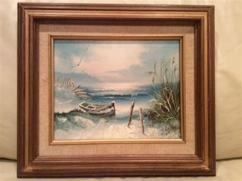 H Painting by Original Seascape Painting On Canvas Signed H