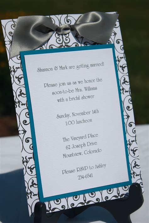 custom wedding shower invitations handmade bridal shower invitations invitations