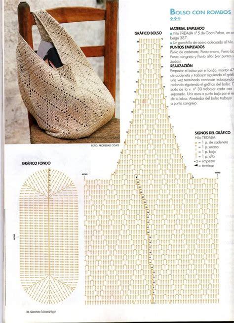 crochet patrones bolsas de crochet patrones