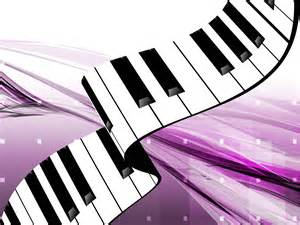 gorgeous piano keys ppt backgrounds music purple