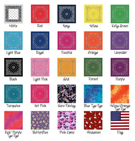 bandana colors
