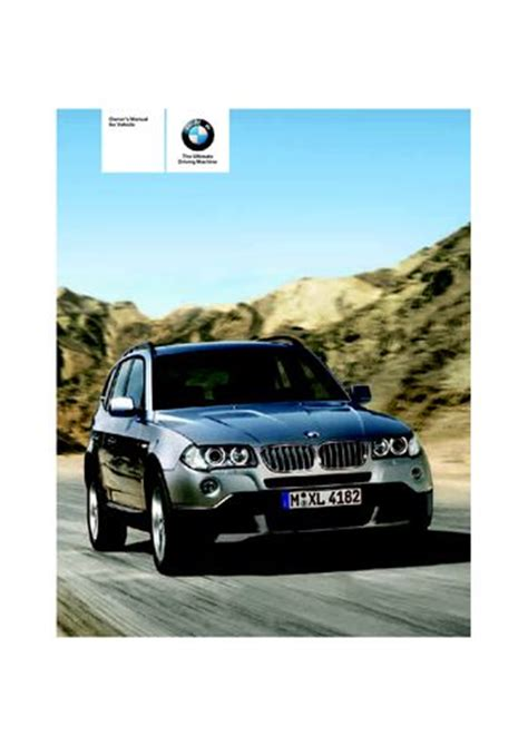 all car manuals free 2009 bmw x3 lane departure warning download 2008 bmw x3 3 0si owner s manual pdf 140 pages
