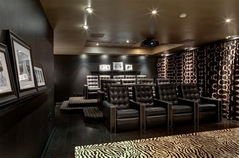 franklin lakes residence contemporary home theater