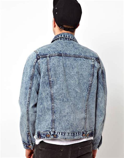 Acid Jaket asos acid wash denim jacket in blue for lyst