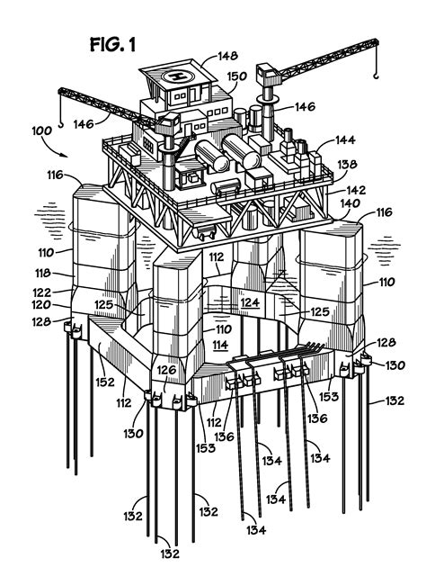 Cabin Blue Prints patent us20130000540 offshore platform with outset