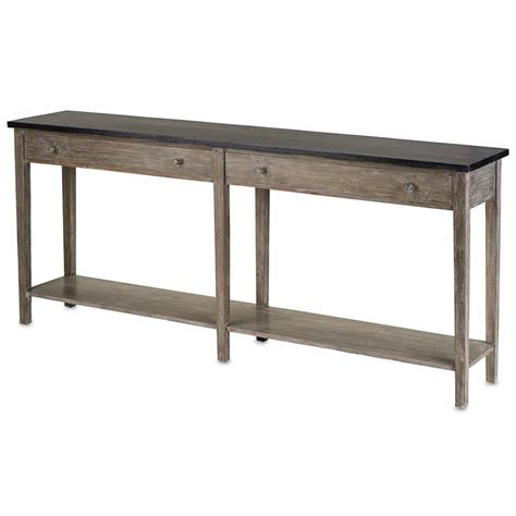 Wood Sofa Table Parma Rustic Lodge Charcoal Grey Acacia Wood Console Table Kathy Kuo Home