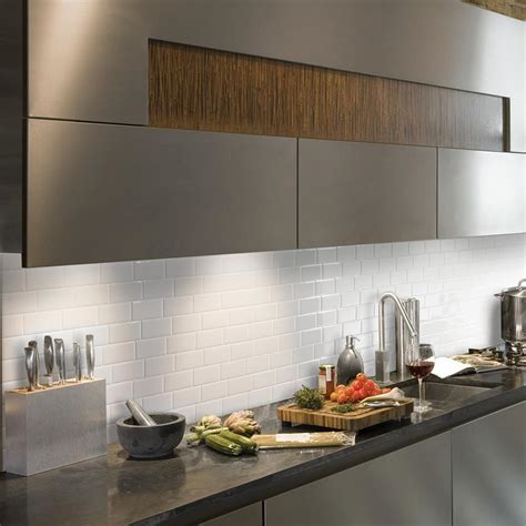 decorative wall tiles kitchen backsplash smart tiles metro blanco 11 56 in w x 8 38 in h peel and