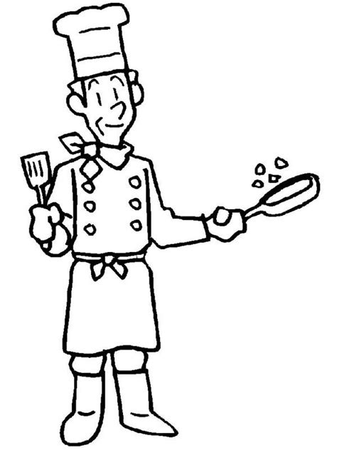 preschool coloring pages community helpers community helpers coloring pages chef coloringstar