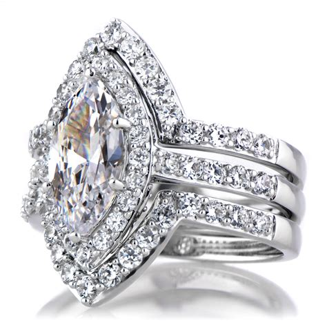 padgett s marquise cut cz wedding ring set ring