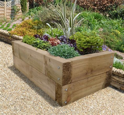 Sleeper Raised Garden Bed sleeper raised bed forest garden