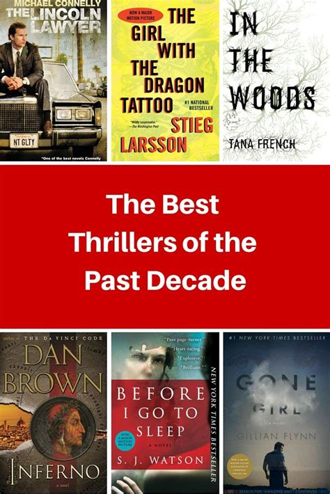 thriller best the thrillers of the past decade books thriller