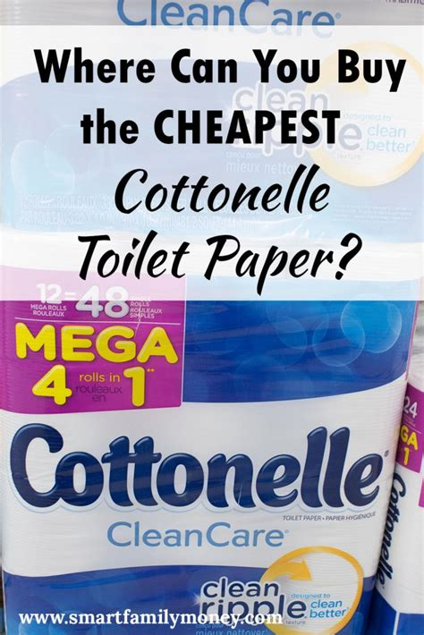 buy  cheapest cottonelle toilet paper smart family money