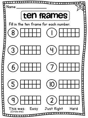 Ten Frame Worksheet by Activities Absolutely Everything And Grade Math On