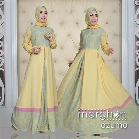Busana Muslim Syar I baju busana muslim brokat model syar i ozumo by marghon