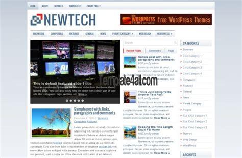 theme blog blue technology blue news wordpress theme template