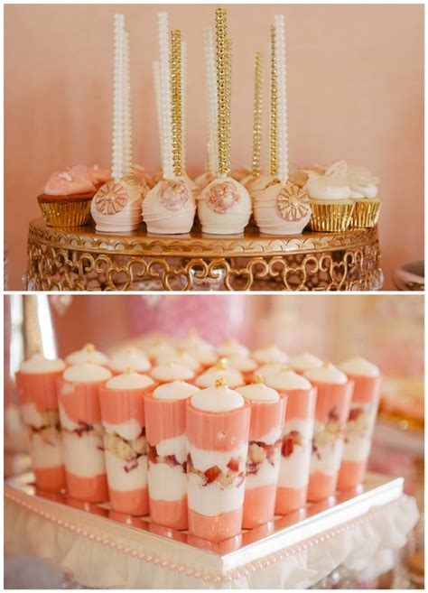 Best Baby Shower Desserts by Whimsical Pink And Gold Baby Shower Pretty My