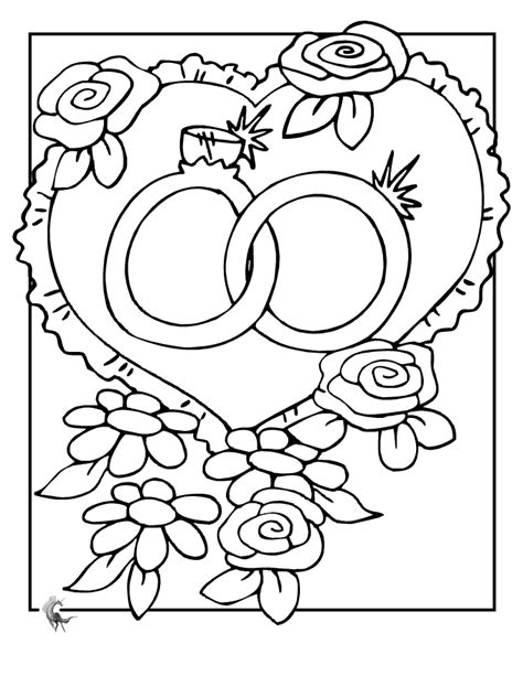 Printable Coloring Pages Wedding | wedding coloring pages to printable