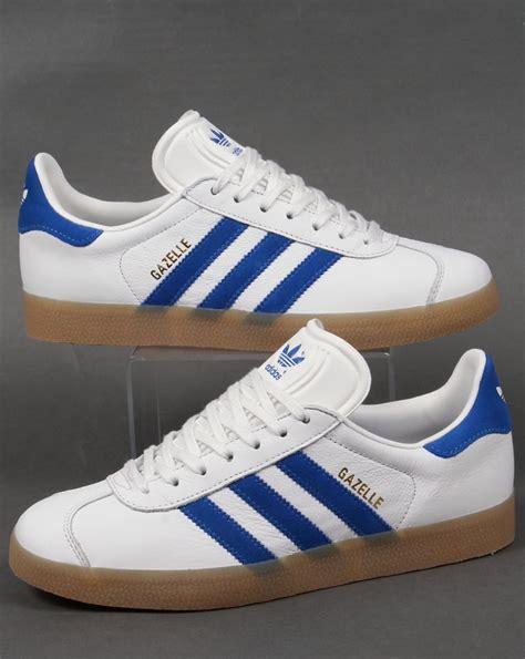 Adidas Gazelle adidas gazelle leather trainer white royal originals mens