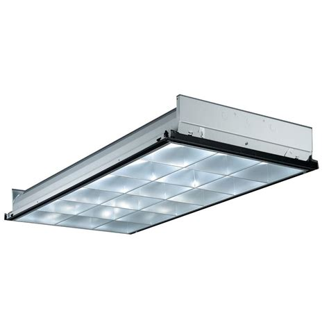 4 Foot Recessed Fluorescent Light Fixture Lithonia Lighting 2 Ft X 4 Ft 3 Light Fluorescent Instant Start Recessed Troffer Pt3alw Mv