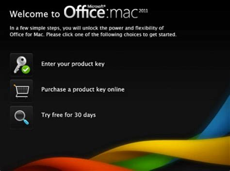 microsoft launches free trial of office for mac 2011